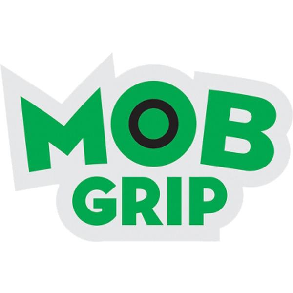 "Mob Grip 1.75"" x 1"" Logo Green / Black Skate Sticker"