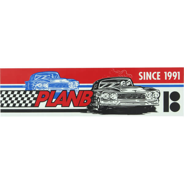 Plan B Skateboards Racer Skate Sticker