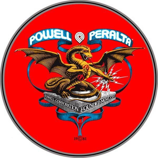 "Powell Peralta Banner Dragon Skate Sticker - 4"""