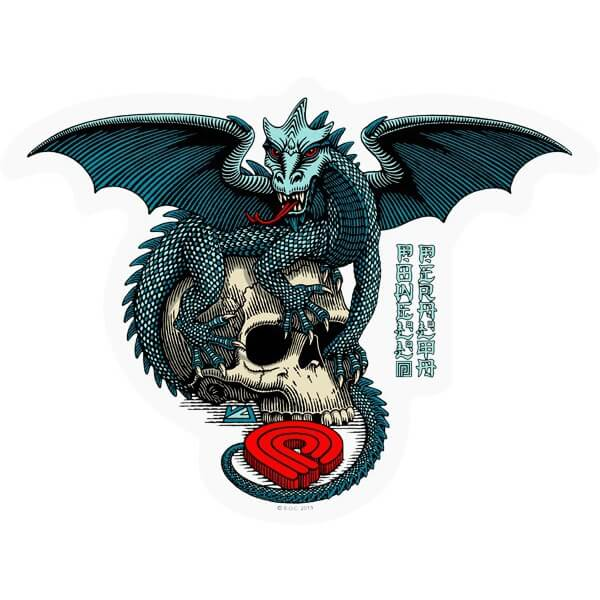 Powell Peralta Dragon Skull Sticker