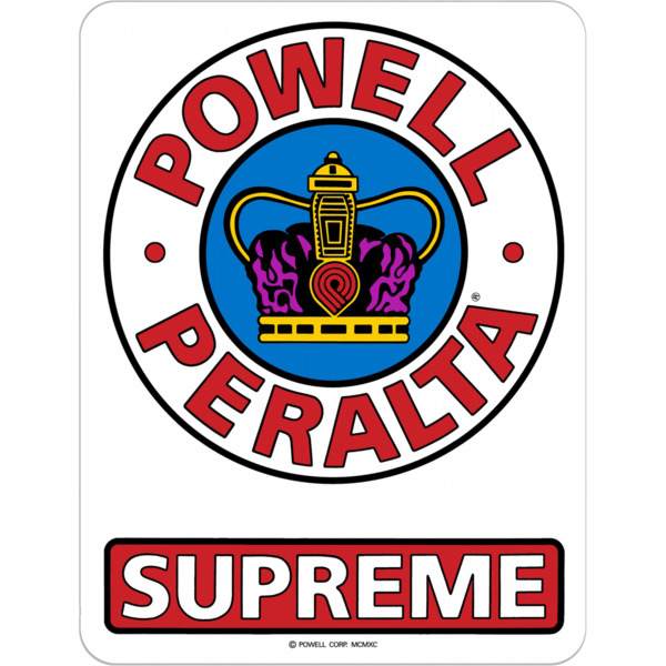 Powell Peralta Supreme OG Skate Sticker - 3.5""