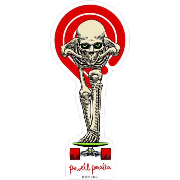 Powell Peralta Tucking Skeleton Skate Sticker