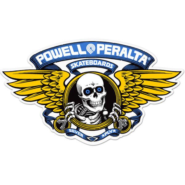 "Powell Peralta 5"" Winged Ripper Die-Cut Blue Skate Sticker"