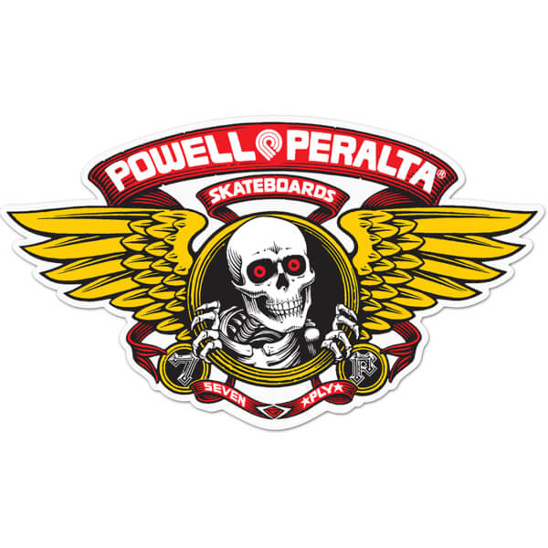 "Powell Peralta 5"" Winged Ripper Die-Cut Red Skate Sticker"