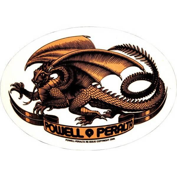 Powell Peralta Oval Dragon Skate Sticker