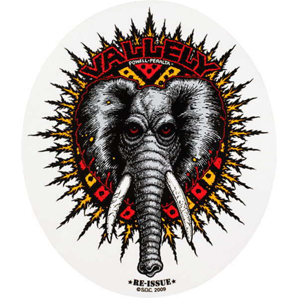 "Powell Peralta Mike Vallely Elephant Skate Sticker - 5.25"" x 4.5"""