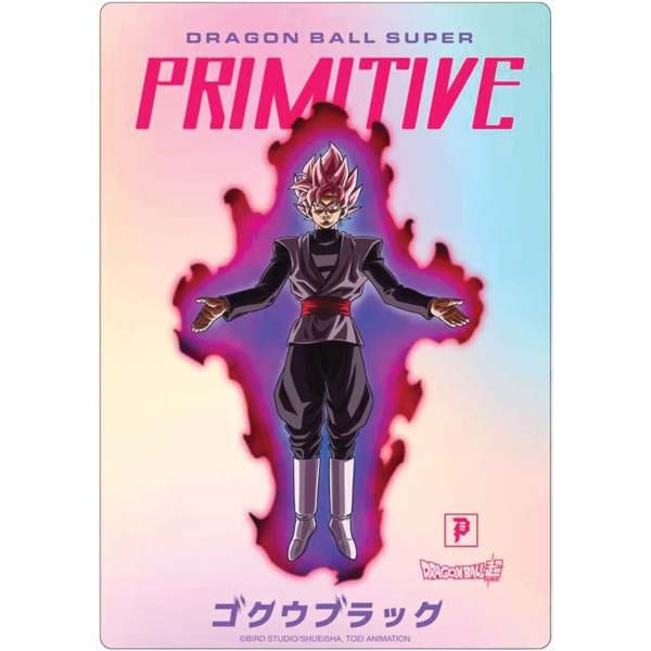 Primitive Skateboarding DBS Goku Black Logo Hologram Skate Sticker