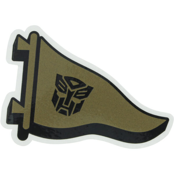 Primitive Skateboarding Pennant Logo Gold Skate Sticker