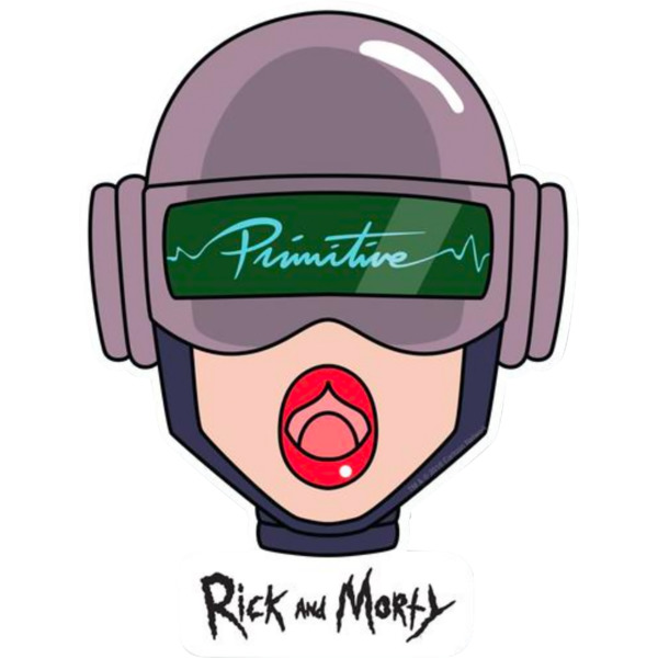 Primitive Skateboarding Rick and Morty Gwendolyn Head Skate Sticker