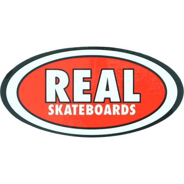 Real Skateboards Oval Classic Small Skate Sticker