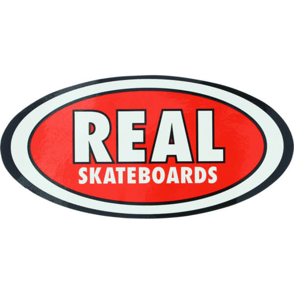 Real Skateboards Oval Classic Medium Skate Sticker