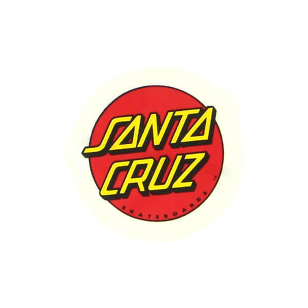 """Santa Cruz Skateboards Classic Dot Skate Sticker - 1"""""""