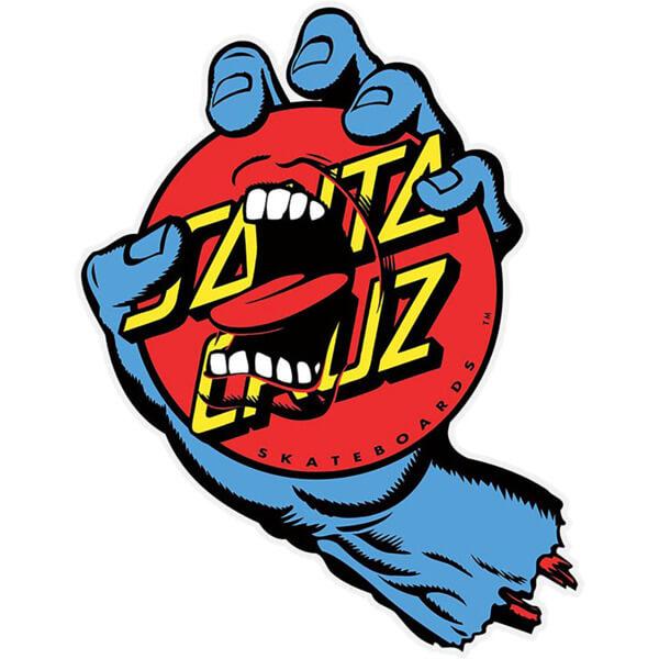 "Santa Cruz Skateboards Screaming Dot Assorted Colors Skate Sticker - 4.62"" x 6"""