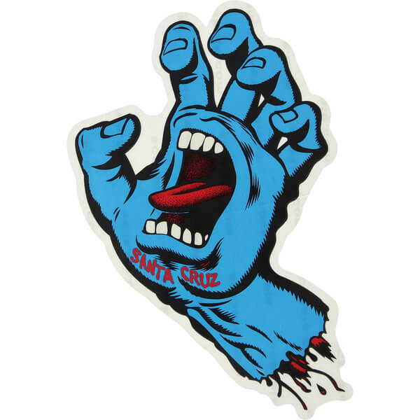 "Santa Cruz Skateboards Screaming Hand Assorted Colors Skate Sticker - 3"" x 3"""
