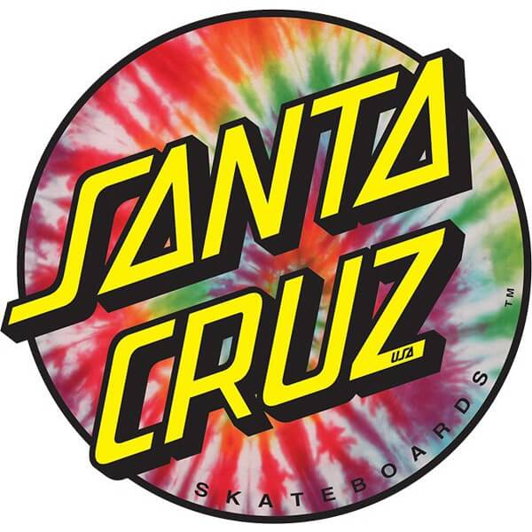 Santa Cruz Skateboards Dot Tie Dye Skate Sticker 3 X 3
