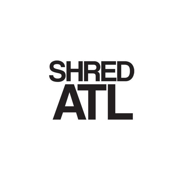 """Shred Stickers 6"""" x 4"""" Shred ATL Black Skate Sticker"""