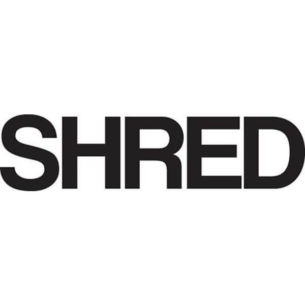 """Shred Stickers 7"""" x 2"""" Shred Bold Black Skate Sticker"""