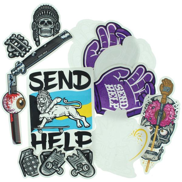 Send Help Skateboards Assorted 13 Pack Skate Sticker