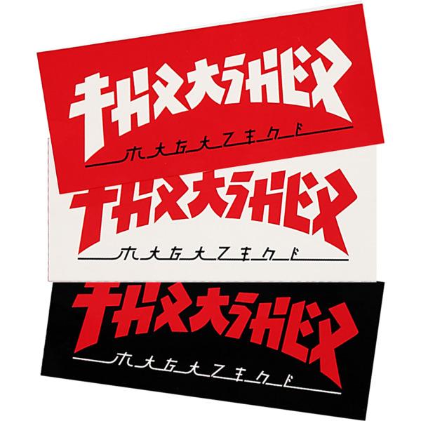 "Thrasher Magazine 2.5""x6"" Godzilla Rectangle Assorted Colors Skate Sticker"