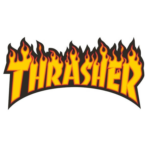 Thrasher Magazine Flame Logo Small Assorted Colors Skate Sticker