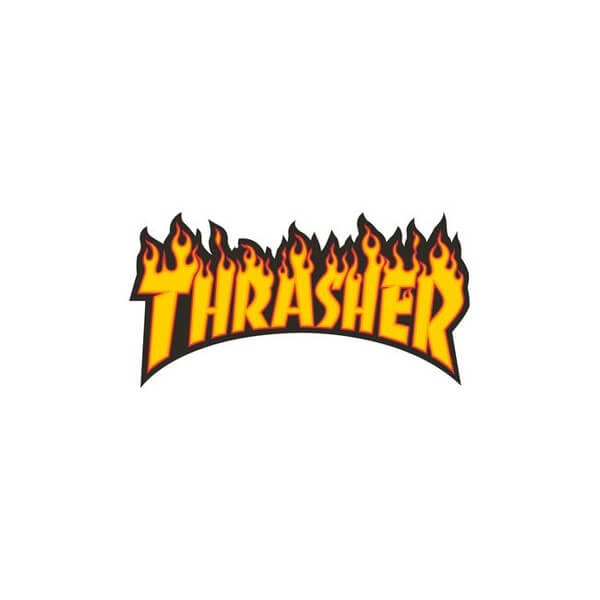 "Thrasher Magazine Flame Logo Medium Assorted Colors Skate Sticker - 3 1/4"" x 6"""