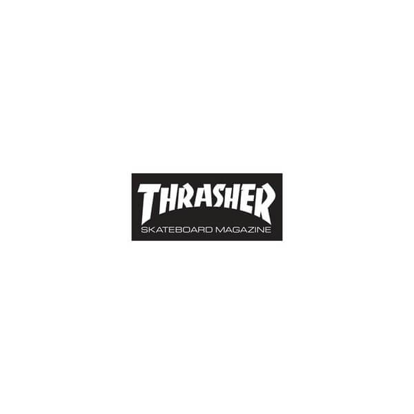 "Thrasher Magazine Logo Small Assorted Colors Skate Sticker - 1 1/2"" x 3 3/4"""