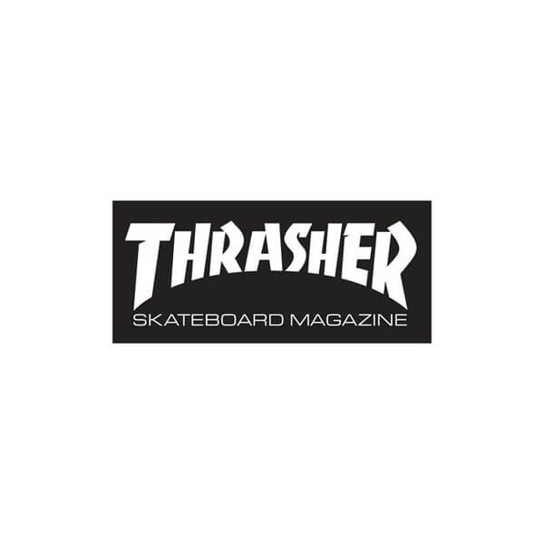 5f3a55b4ae48 Thrasher Magazine Logo Medium Assorted Colors Skate Sticker - 2 1 2 x 6 -  Warehouse Skateboards