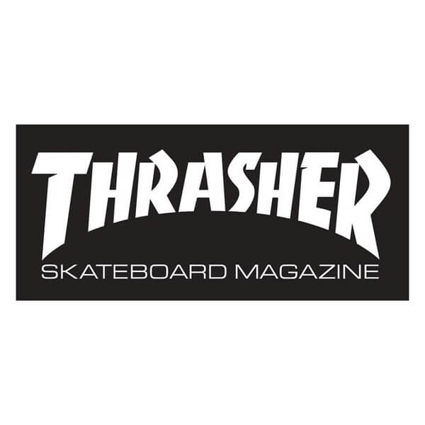 "Thrasher Magazine Logo Super Assorted Colors Skate Sticker - 3 5/8"" x 9 1/4"""