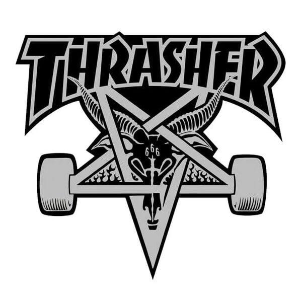 "Thrasher Magazine Sk8Goat Assorted Colors Skate Sticker - 3 3/4"" x 3 7/8"""