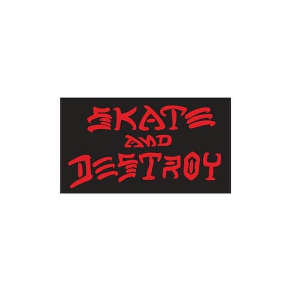 "Thrasher Magazine Sk8 and Destroy Medium Assorted Colors Skate Sticker - 1"" x 1 3/4"""