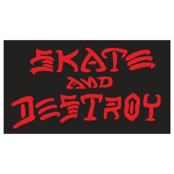 """Thrasher Magazine Sk8 and Destroy Large Assorted Colors Skate Sticker - 3 1/4"""" x 6 1/4"""""""