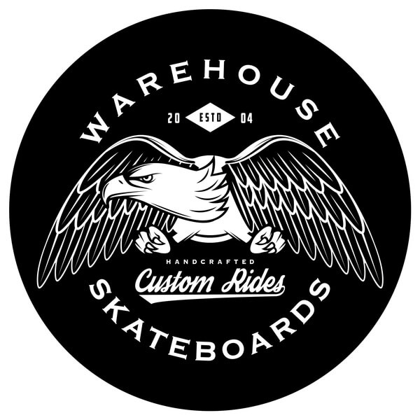 "Warehouse Skateboards Eagle Skate Sticker - 2.5"" x 2.5"""