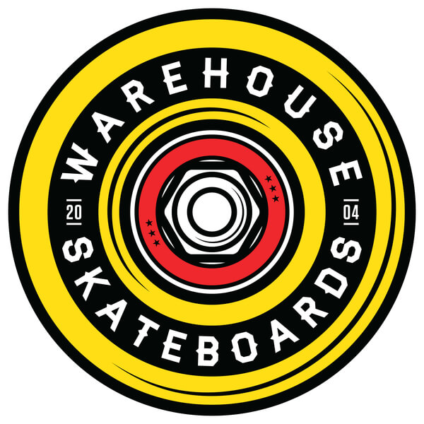 "Warehouse Skateboards Wheel Skate Sticker - 2.5"" x 2.5"""