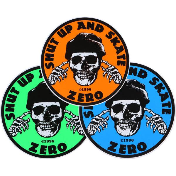 Zero Skateboards Shut Up and Skate Skate Sticker