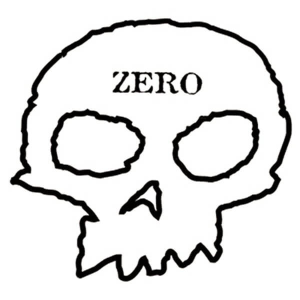 Zero Skateboards Skull Decal