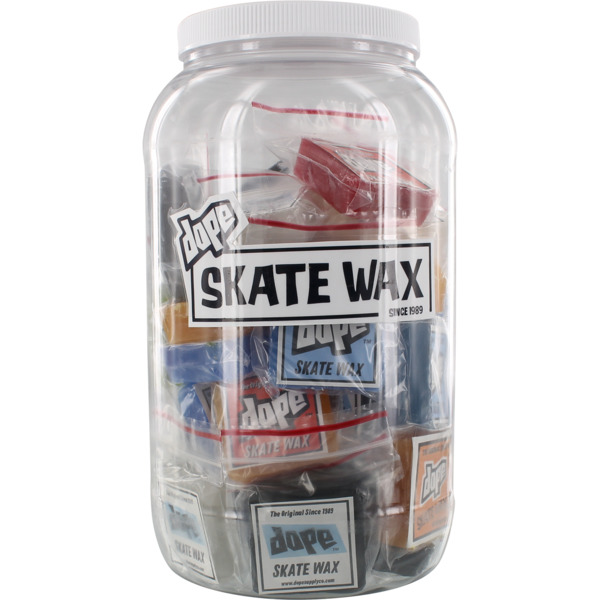 Dope Skate Wax 40 Mini Nug Jug Assorted Colors Original Formula Skatewax - Includes 40 Bars