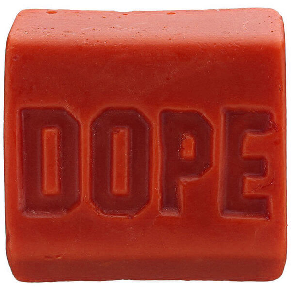 Dope Skate Wax Fire Red Original Formula Skatewax Bar