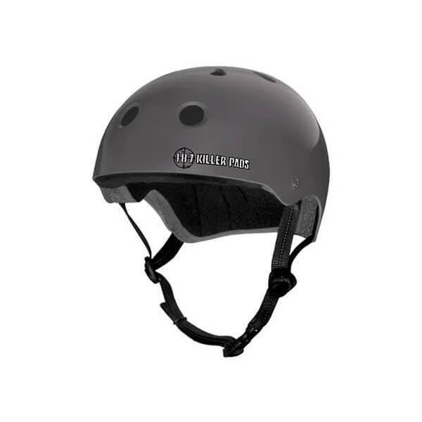 "187 Killer Pads Pro Charcoal Skate Helmet - Large / 22.1"" - 22.9"""