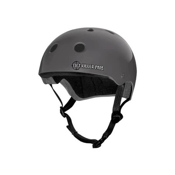 "187 Killer Pads Pro Charcoal Skate Helmet - X-Large / 23"" - 24"""