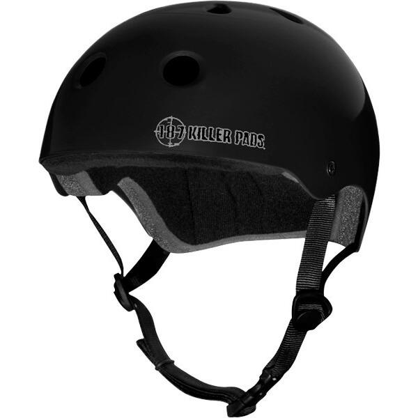 """187 Killer Pads Pro Matte Black Skate Helmet - XXL / 24"""" - 26.5"""""""