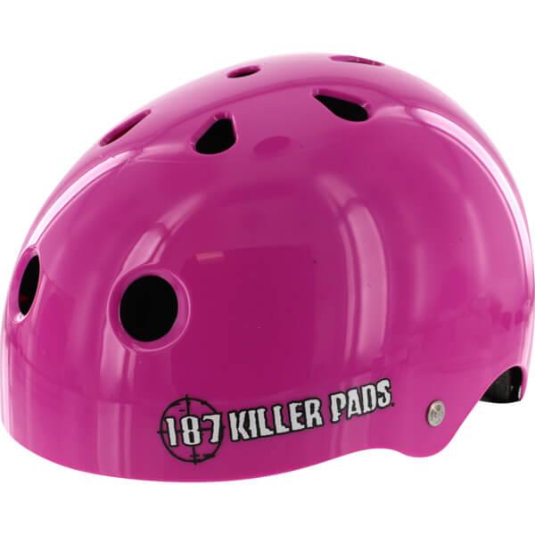 "187 Killer Pads Pro Pink Skate Helmet - X-Small / 20.1"" - 20.5"""