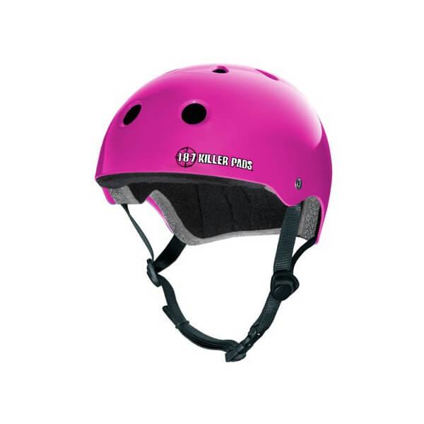 """187 Killer Pads Pro Pink Skate Helmet - Medium / 21.4"""" - 22"""""""