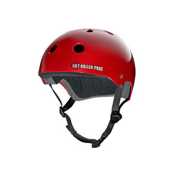 "187 Killer Pads Pro Red Skate Helmet - Large / 22.1"" - 22.9"""