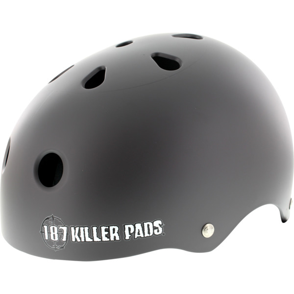 "187 Killer Pads Pro Skate with Sweatsaver Liner Matte Charcoal Skate Helmet - X-Large / 23"" - 24"""