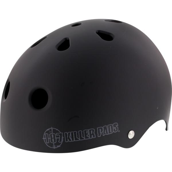 "187 Killer Pads Pro Skate with Sweatsaver Liner Matte Black Skate Helmet - X-Large / 23"" - 24"""