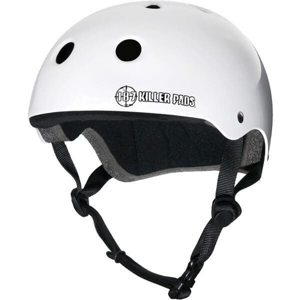 """187 Killer Pads Pro White Skate Helmet - Large / 22.1"""" - 22.9"""""""