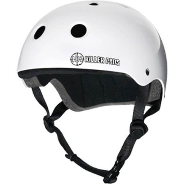 """187 Killer Pads Pro White Skate Helmet - XX-Large / 24"""" - 26.5"""""""