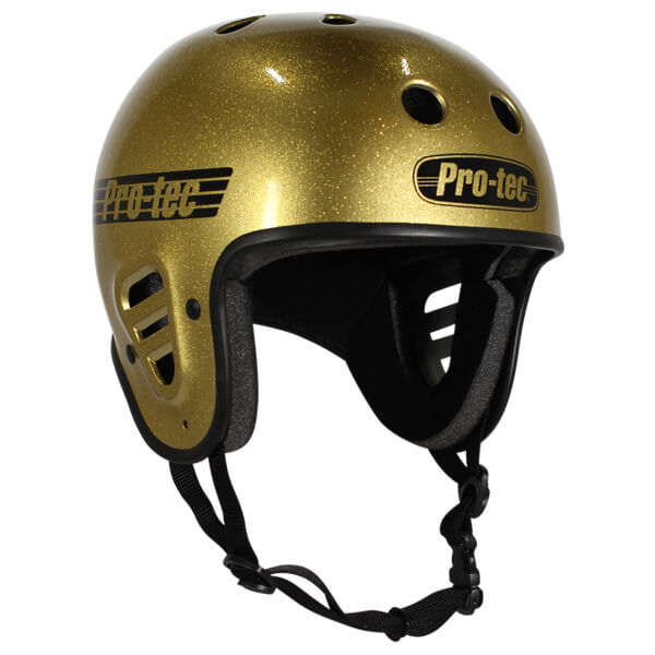 "ProTec Full Cut Classic Gold Flake Full Cut Skate Helmet - X-Large / 23.6"" - 24.4"""