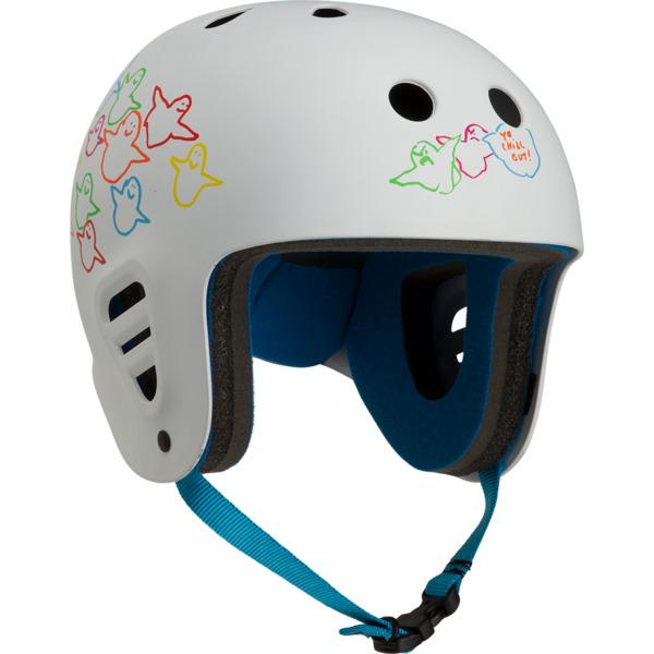 """ProTec Full Cut Gonz Birds White Full Cut Skate Helmet - X-Large / 23.6"""" - 24.4"""""""
