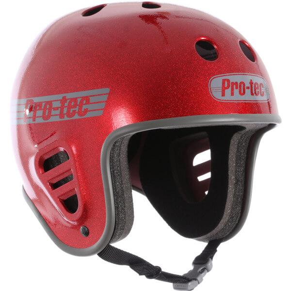 "ProTec Full Cut Classic Red Metal Flake Full Cut Skate Helmet - X-Large / 23.6"" - 24.4"""